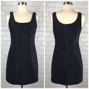 Geary Roark 90s Metallic Knit Mini Dress C1351